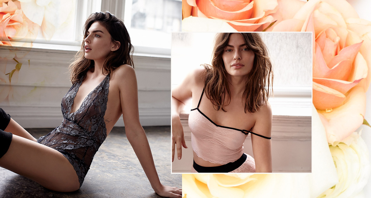 Alyssa Miller, Free People, Lingerie, Lookbooks, Shop, Style, Nous Models, Nous Model Management