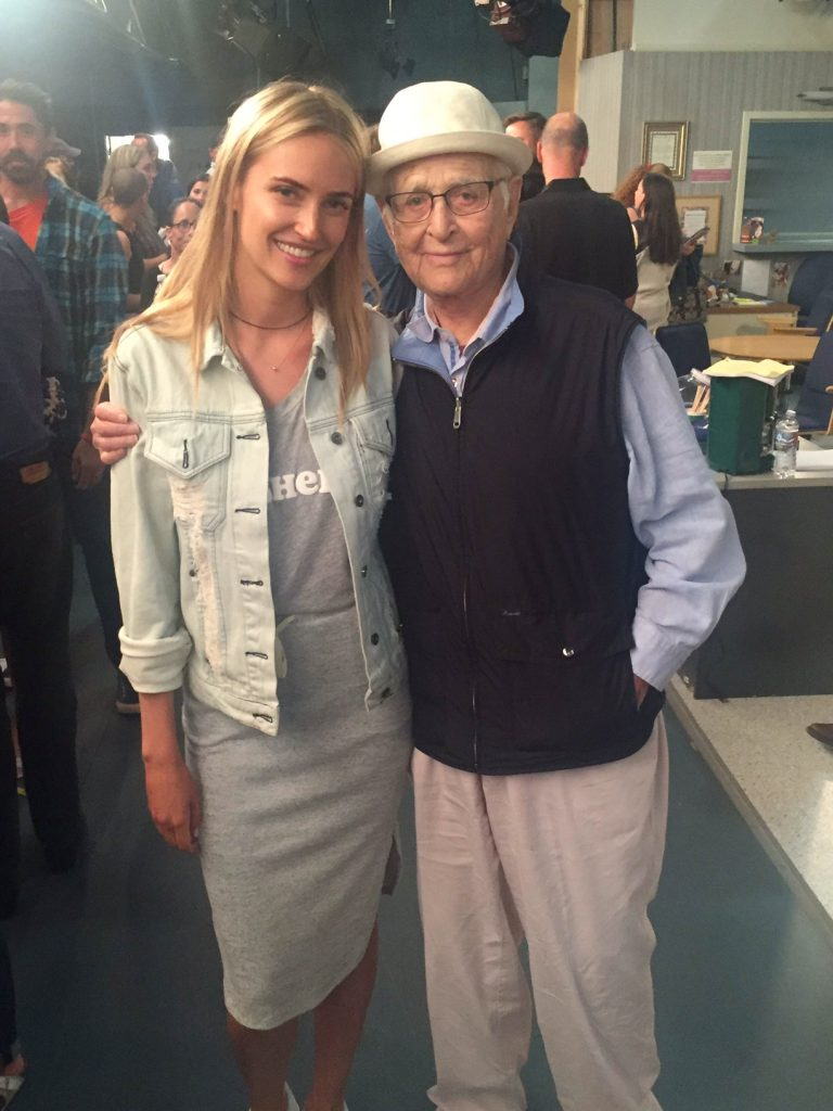 Polina & world-famous producer Norman Lear